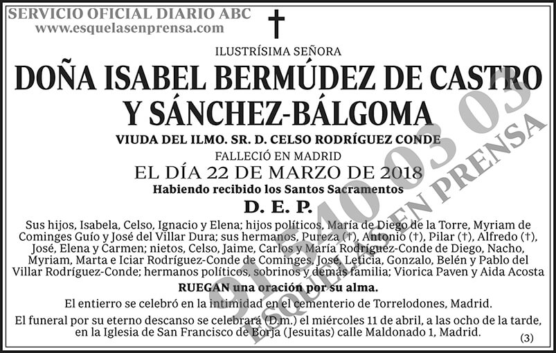 Isabel Bermúdez de Castro y Sánchez-Bálgoma